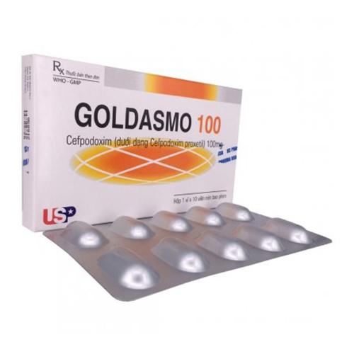 GOLDASMO 100 (Hộp 1 vỉ x 10 viên)