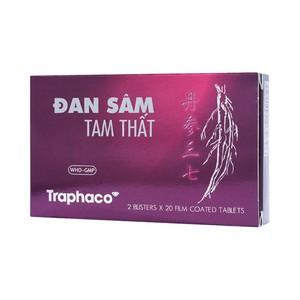 Đan Sâm - Tam Thất Traphaco (Hộp 2 vỉ x 20 viên )