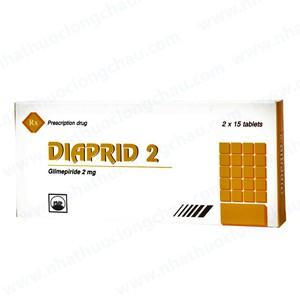 Diaprid 2Mg (Hộp 2 Vỉ x 15 Viên)