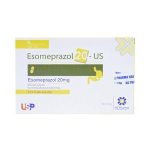 Esomeprazol 20 Us Pharma (Hộp 3 Vỉ x 10 Viên)