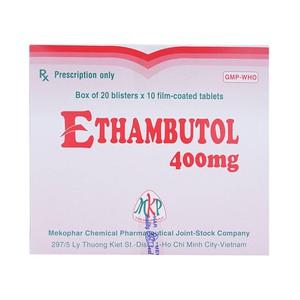 Ethambutol 400Mg (Hộp 20 Vỉ x 10 Viên)