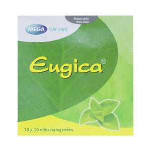 Eugica - Viên Uống Điều Trị Ho, Cảm Cúm (Hộp 10 vỉ x 10 viên)