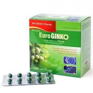 Euro Ginko - Hỗ Trợ Tuần Hoàn Máu Não (Hộp)