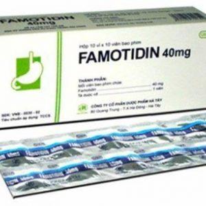 Famotidine (Hộp 10 Vỉ x 10 Viên)