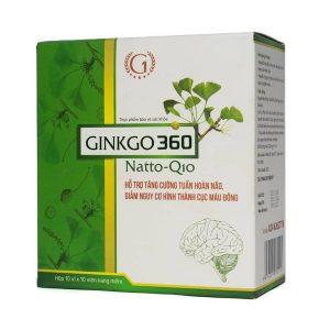 Ginkgo 360 Natto-Q10 10X10 Ginic (Hộp 10 Vỉ x 10 Viên)