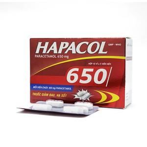 Hapacol 650Mg (Hộp 10 Vỉ x 5 Viên)