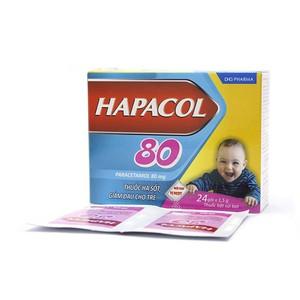 Hapacol 80Mg (Hộp 24 gói x 1.5 g)