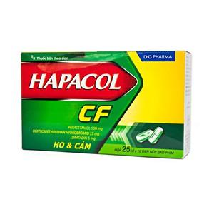 Hapacol Cf Dhg 25X10 (Hộp 25 Vỉ x 10 Viên)