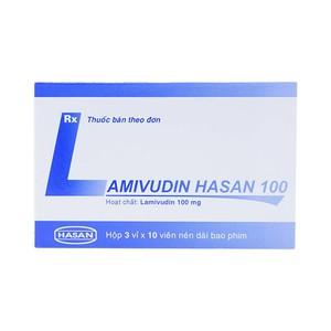 Lamivudin 100Mg 3X10 Hasan (Hộp 3 Vỉ x 10 Viên)