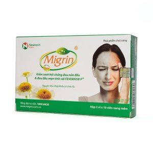 Migrin - Giải Pháp Cho Bệnh Đau Nửa Đầu (Hộp 2 Vỉ x 10 Viên)