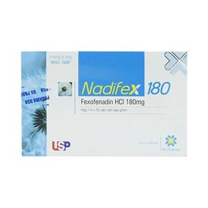 Nadifex 180 Usp 1X10 Hv Pharma (Hộp 1 Vỉ x 10 Viên)