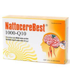 Nattocerebest - Viên Uống Bổ Não Trợ Tim (Hộp 3 Vỉ x 10 Viên)
