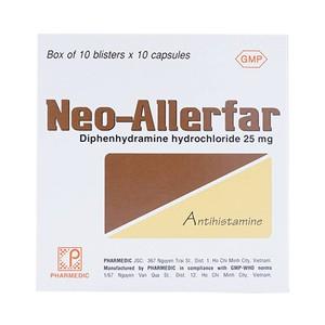Neo-Allerfar 25Mg 10X10 Pharmedic (Hộp 10 Vỉ x 10 Viên)