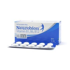 Neurobion Vitamin B1,b6,b12 5X10 Merck (Xanh) (Hộp 5 Vỉ x 10 Viên)