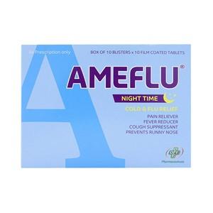 New Ameflu Night Time (Hộp 10 Vỉ X 10 Viên)