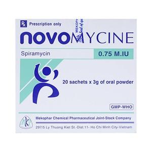 Novomycine 0.75 Miu (Hộp 20 gói x 3 g)