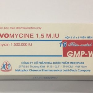 Novomycine 1,5Miu (Hộp 2 Vỉ x 8 Viên)