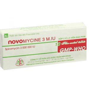 Novomycine 3M.iu (Hộp 2 Vỉ x 5 Viên)