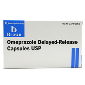 Omeprazole Delayed Release Brawn (10 Vỉ x 10 Viên)