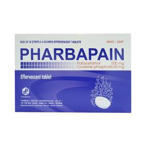 Pharbapain Pharbaco 25X4 (Hộp 25 Vỉ x 4 Viên)