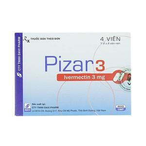 Pizar 3 (Hộp 1 Vỉ x 4 Viên)