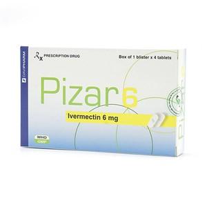 Pizar 6 (Hộp 1 Vỉ x 4 Viên)