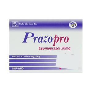 Prazo Pro 20Mg 2X7 (Hộp 2 Vỉ x 7 Viên)