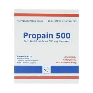Propain 500 Remedica 10X10 (Hộp 10 Vỉ x 10 Viên)