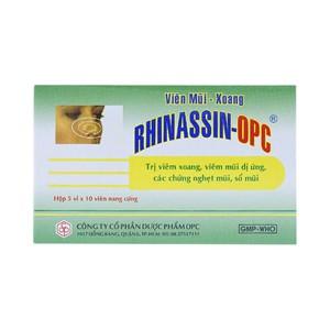 Rhinassin - Giảm Viêm Xoang, Viêm Mũi Dị Ứng (Hộp 5 Vỉ x 10 Viên)