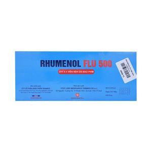 Rhumenol Flu 500 (Hộp 25 vỉ x 4 viên)
