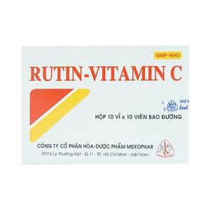Rutin- Vitamin C (Hộp 10 vỉ x 10 viên)