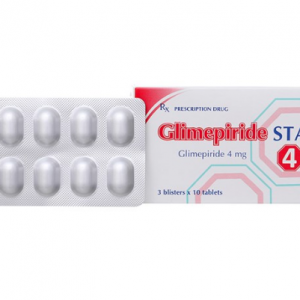 Glimepiride 4Mg (3 Vỉ x 10 Viên)