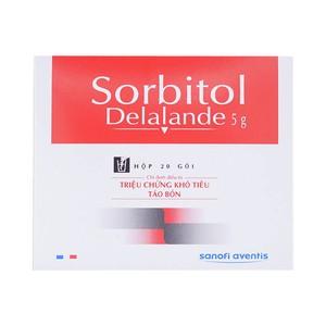 Sorbitol Delalande 5G (Hộp 20 gói x 5 g)