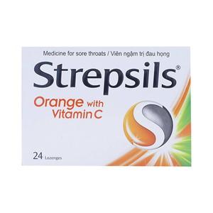 Strepsils Orange With Vitamin C 24 Viên (Hộp 2 vỉ x 12 viên)