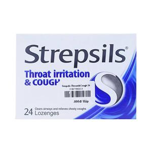Strepsils Throat Irritation & Cough 24 Viên (Hộp 2 vỉ x 12 viên)