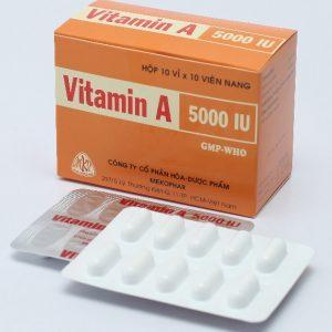 Vitamin A 5000 Ui (10 vỉ x 10 viên)