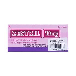 Zestril 10Mg (Hộp 2 vỉ x 14 viên)
