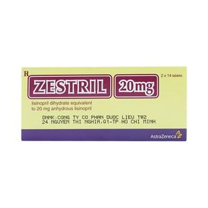 Zestril 20Mg (Hộp 2 vỉ x 14 viên)