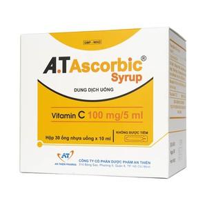 A.t Ascorbic Syrup An Thiên 30 Ống X 10Ml - Dung Dịch Uống