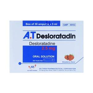 AT Desloratadin An Thiên (Hộp 30 Ống 5ml)