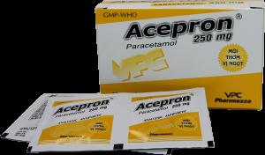 Acepron Paracetamol 250mg H20 gói Cửu Long (Hộp 20 Gói)