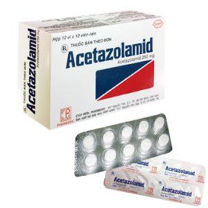 Acetazolamid 250Mg (10 Vỉ x 10 Viên)