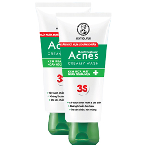 Acnes 3S rửa mặt ngừa mụn tube 100g Rohto (Tuýp 100g)