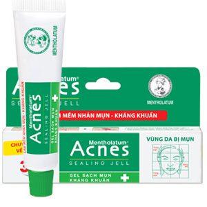 Acnes Sealing Jell 3S gel sạch mụn kháng khuẩn (Tuýp 18g)