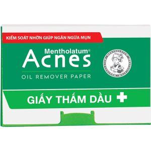 Acnes giấy thấm dầu Rohto (Hộp 100 tờ)