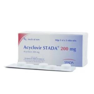 Acyclovir Stada® 200 Mg (5 Vỉ x 5 Viên)