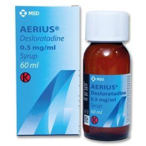 Aerius 0.5mg Siro 60ml Mỹ (Chai 60ml)