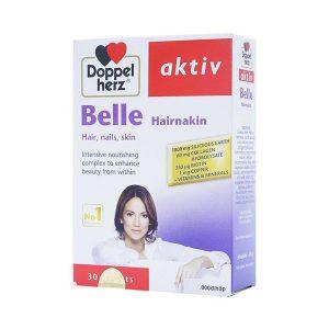 Aktiv Belle Hair - Viên Uống Bổ Sung Vitamin (Hộp 3 Vỉ x 10 Viên)