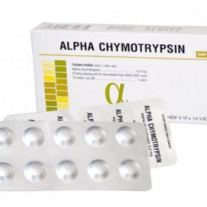 Alpha Chymotrypsin 4200IU Hậu Giang (Hộp 2 vỉ x 10 viên)