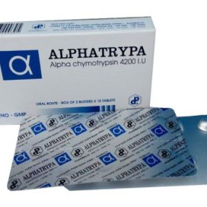 Alphatrypa chymotrypsin TW1 (Hộp 5 vỉ x 10 viên nén)